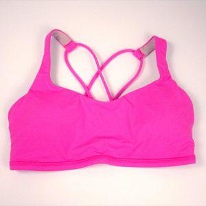 Lululemon sz 6 Pink Free To Be Sports Bra EUC